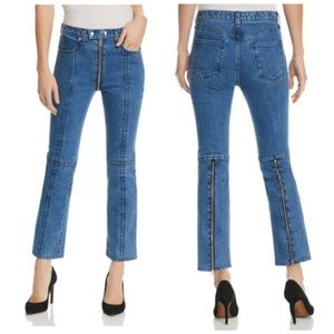 Rag & Bone Blue Bain Iver Jeans Zipper Back 24